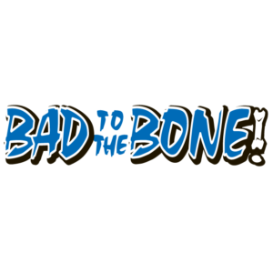 Blue Bad to the Bone Spirit Strip Temporary Tattoos