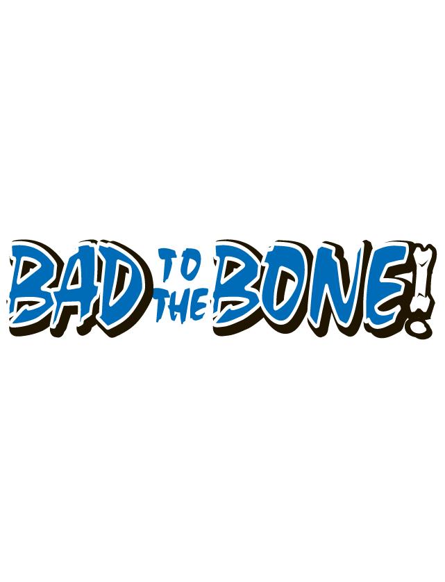 Blue Bad to the Bone Spirit Strip Temporary Tattoos
