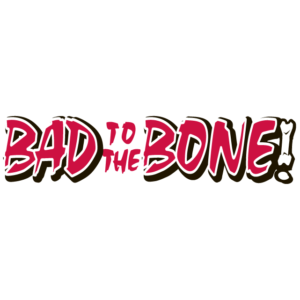 Red Bad to the Bone Spirit Strip Temporary Tattoos
