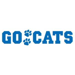 Blue Go Cats Spirit Strip Temporary Tattoos