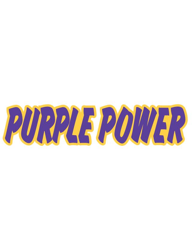 Purple Power Spirit Strip Temporary Tattoos