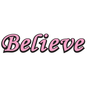 Awareness Pink Believe Spirit Strip Temporary Tattoos