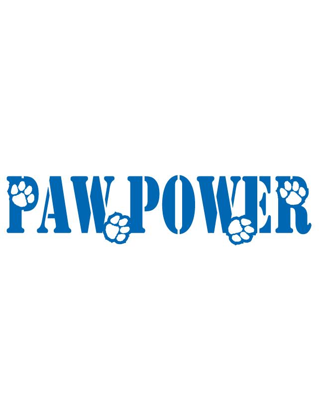 Blue Paw Power Spirit Strip Temporary Tattoos