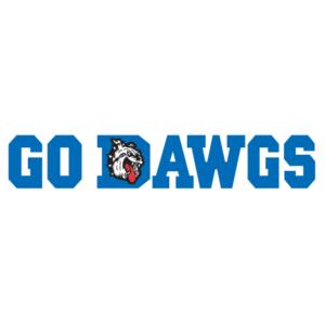 Blue Go Dawgs Spirit Strip Temporary Tattoos