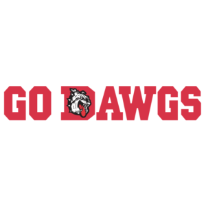 Red Go Dawgs Spirit Strip Temporary Tattoos