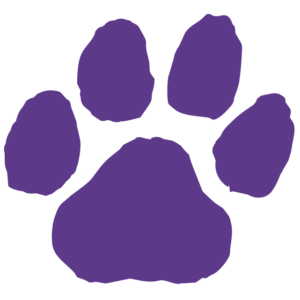 Purple Paw Print Waterless Tattoos