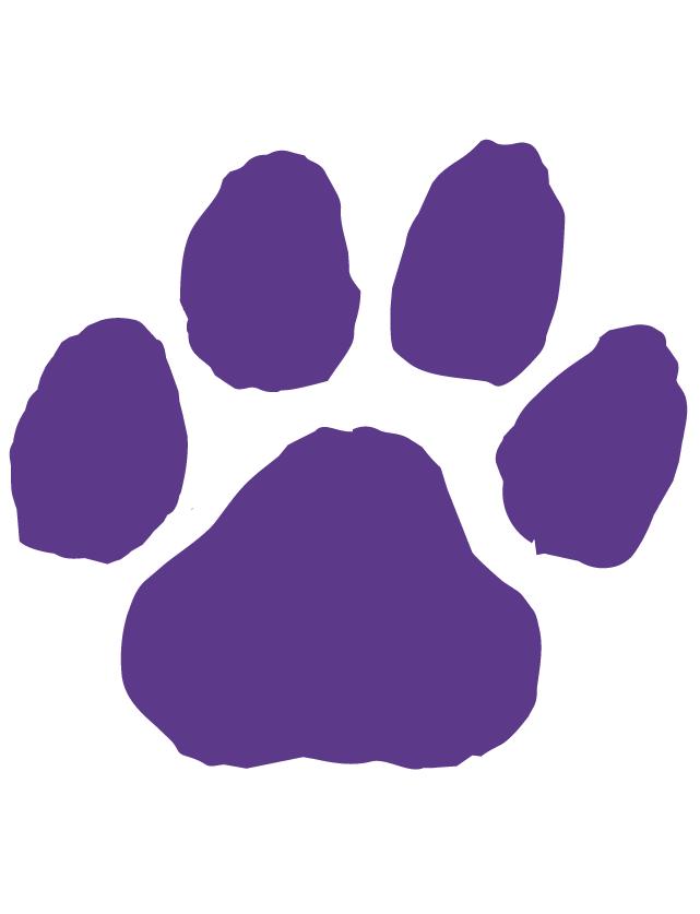 Purple Paw Print Waterless Tattoos