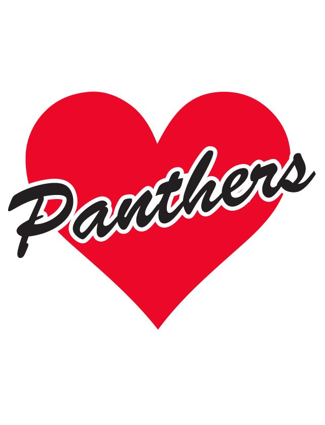 Panthers Heart Waterless Tattoos