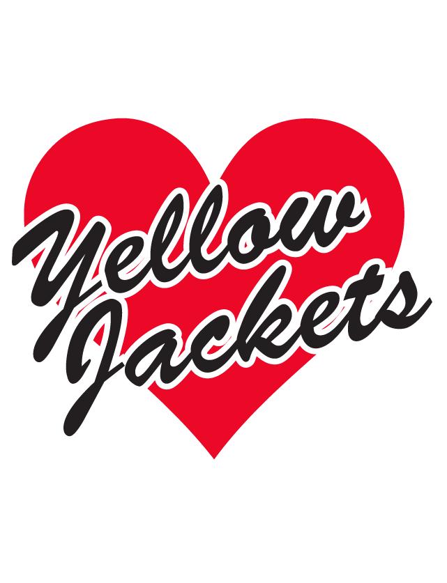 Yellow Jackets Heart Waterless Tattoos