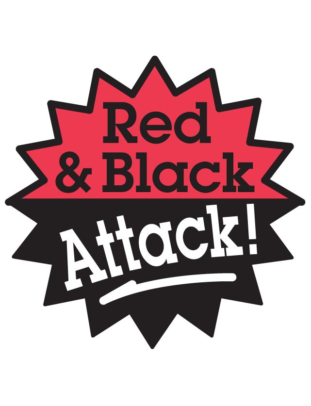 Red & Black Attack Waterless Tattoos