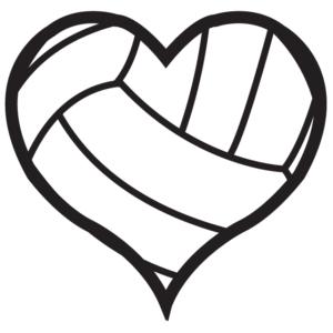 Volleyball Heart Waterless Tattoos
