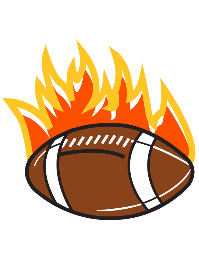 Flaming Football Waterless Tattoos