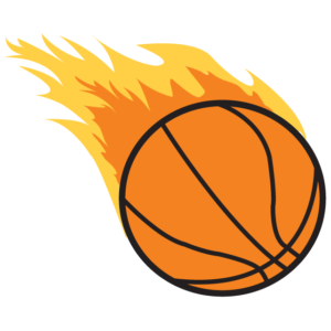 Flaming Basketball Waterless Tattoos