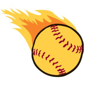 Flaming Baseball Waterless Tattoos
