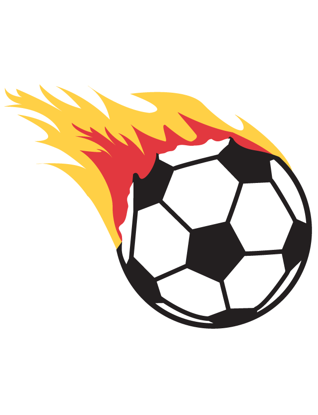 Flaming Soccer Ball Waterless Tattoos