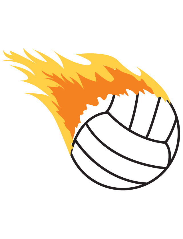 Flaming Volleyball Waterless Tattoos
