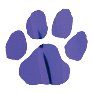 Purple Metallic Paw Print Temporary Tattoos