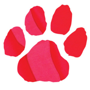Red Metallic Paw Print Temporary Tattoos