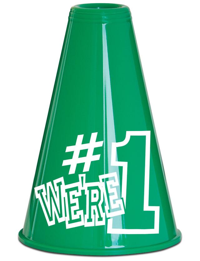 We're #1 Megaphone