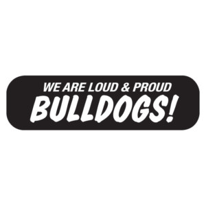 We are Loud & Proud Bulldogs Waterless Tattoos are easy to apply. They are printed on clear bandaid material. Peel them off and stick them on!