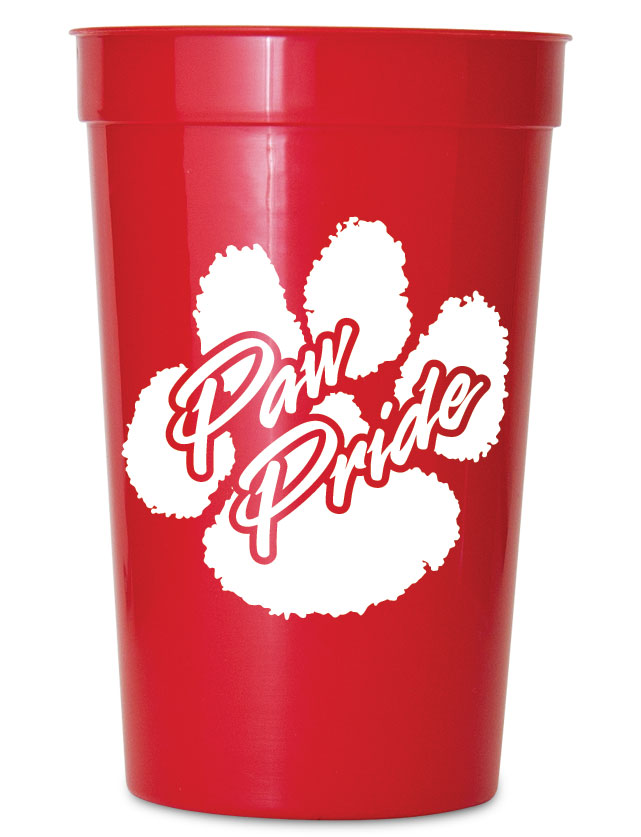 Paw Pride Stadium Cups