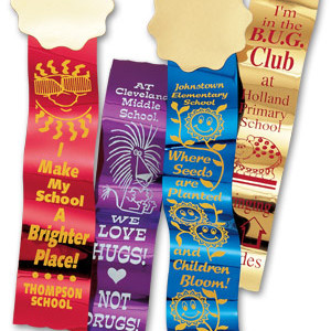 metallic recognition ribbons